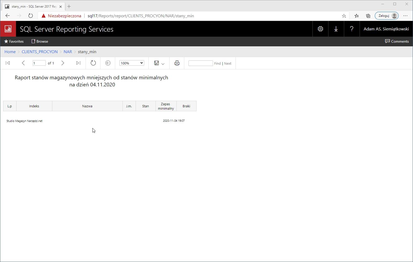 sql raportowanie,szablony rdl,raporty sql server